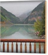 Lake Louise At Dawn Wood Print