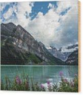Lake Louise Day One Wood Print