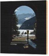 Lake Louise Inside View Wood Print