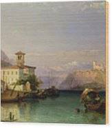 Lake Maggiore Wood Print by George Edwards Hering
