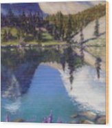 Lake Marie Wood Print by Zanobia Shalks