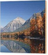 Lake Mcdonald Autumn Wood Print