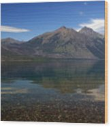 Lake Mcdonald Reflection Glacier National Park 2 Wood Print by Marty Koch
