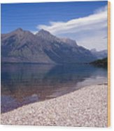 Lake Mcdonald Reflection Glacier National Park 4 Wood Print