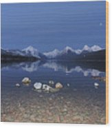 Lake Mcdonald Rocks Wood Print