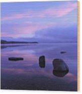 Lake Mcdonald Sunrise  Wood Print