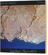 Lake Mead - Planet Art Wood Print