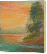 Lake Merced Wood Print