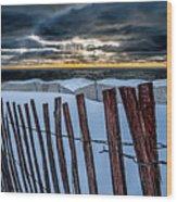 Lake Mi Sunset 15 Wood Print