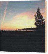 Lake Michigan At Dusk Wood Print