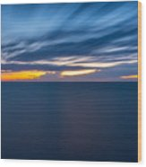 Lake Michigan Long Exposure  Wood Print