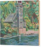 Lake Michigan Old Lighthouse Wood Print