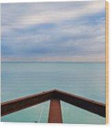 Lake Michigan Prow Wood Print