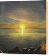 Lake Michigan Shore Wood Print