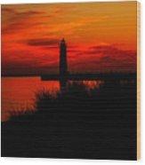 Lake Michigan Summer Night Wood Print