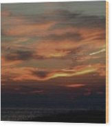 Lake Michigan Sunset Photograph Wood Print