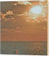 Lake Michigan Sunset. Wood Print