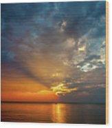 Lake Michigan Sunset Wood Print
