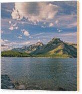 Lake Minnewanka Banff II Wood Print