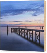 Lake Monroe At Twilight Wood Print