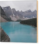 Lake Moraine Wood Print
