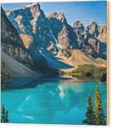 Lake Moraine Valley Of Ten Peaks Wood Print