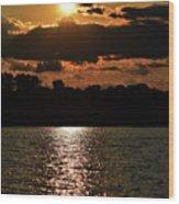 Lake Murray Golden Hour Wood Print