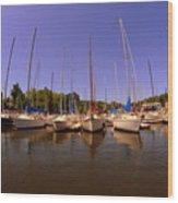 Lake Murray S C Marina Wood Print