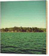 Lake Murray Shore Wood Print