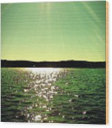 Lake Murray Sun Wood Print
