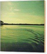 Lake Murray Wake Wood Print