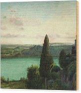 Lake Nemi Wood Print