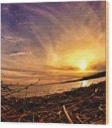 Lake Nipissing Sunset Callander Bay Wood Print