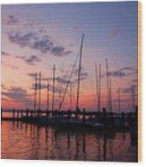 Lake Norman Sunset Wood Print