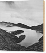 Lake Of Fire - Lagoa Do Fogo Wood Print