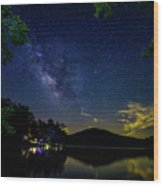 Lake Of Stars Wood Print