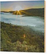 Lake Of The Clouds Sunrise Wood Print
