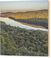 Lake Of The Clouds Sunset Wood Print