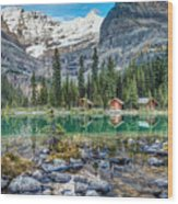 Lake O'hara At Dusk Wood Print
