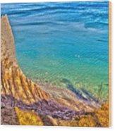 Lake Ontario At Chimney Bluff Wood Print