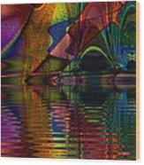 Lake Opalescence Wood Print