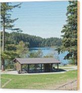 Lake Padden Picnic Shelter Wood Print