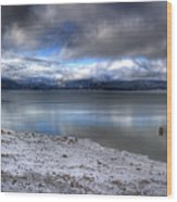 Lake Pend D'oreille At 41 South Wood Print