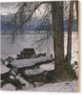 Lake Pend D'oreille At Humbird Ruins 1 Wood Print