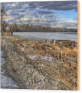 Lake Pend D'oreille At Humbird Ruins 2 Wood Print