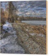 Lake Pend D'oreille At Humbird Ruins Wood Print