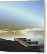 Lake Pend D'oreille Fantasy Wood Print