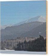 Lake Placid, Mirror Lake Wood Print