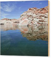 Lake Powell And The Glen Canyon Wood Print