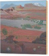 Lake Powell At Farley Canyon Wood Print